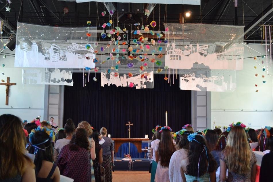 Auditorium designed by IH art teacher Ms. Villanueva and the Decorating Committee.